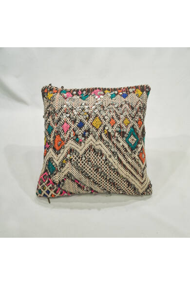 Berber flitteres kilim párna
