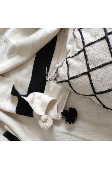 Pompom ágytakaró nyers gyapjú