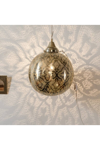 Marrakech gömb rézlámpa