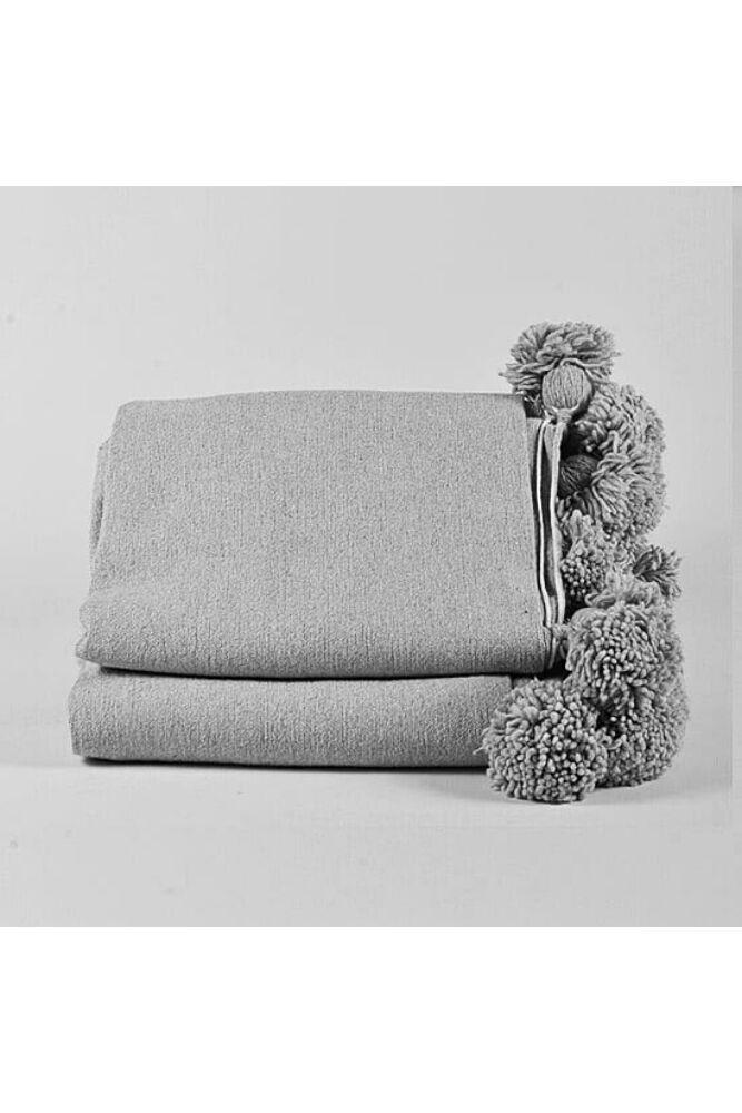 Pompom ágytakaró szürke/szürke