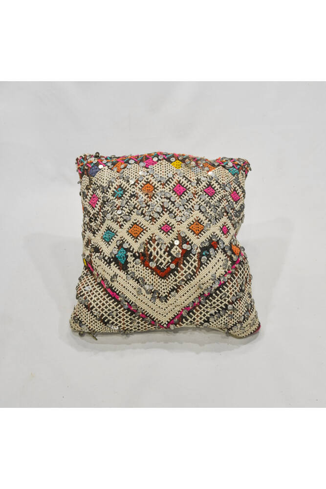 Berber Kilim díszpárna flitterrel