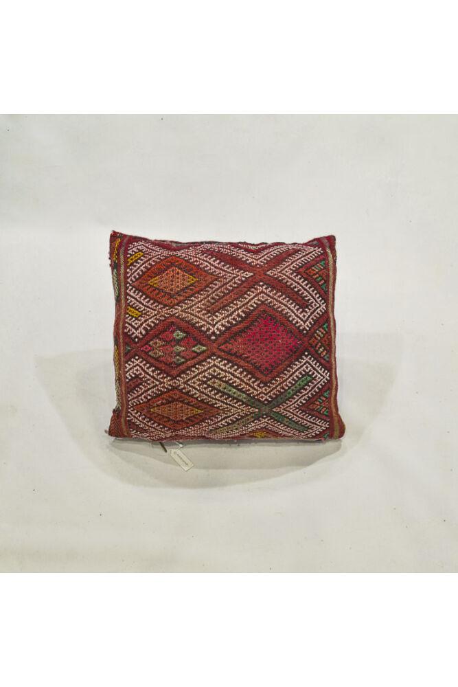 Berber kilim díszpárna piros