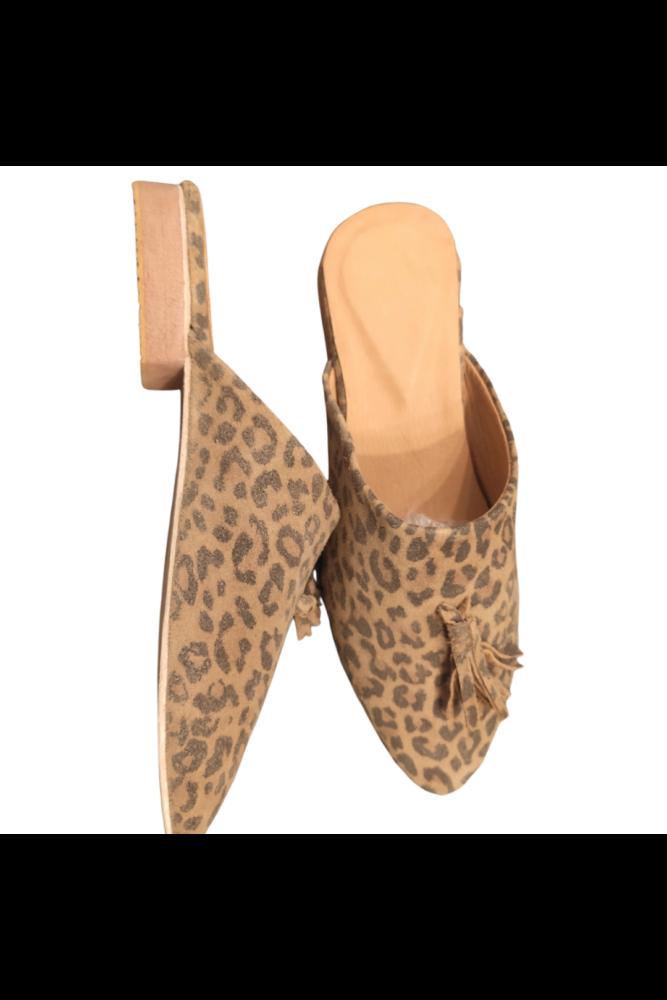 MARANDCHIC papucs- Ocelot Pompom 40
