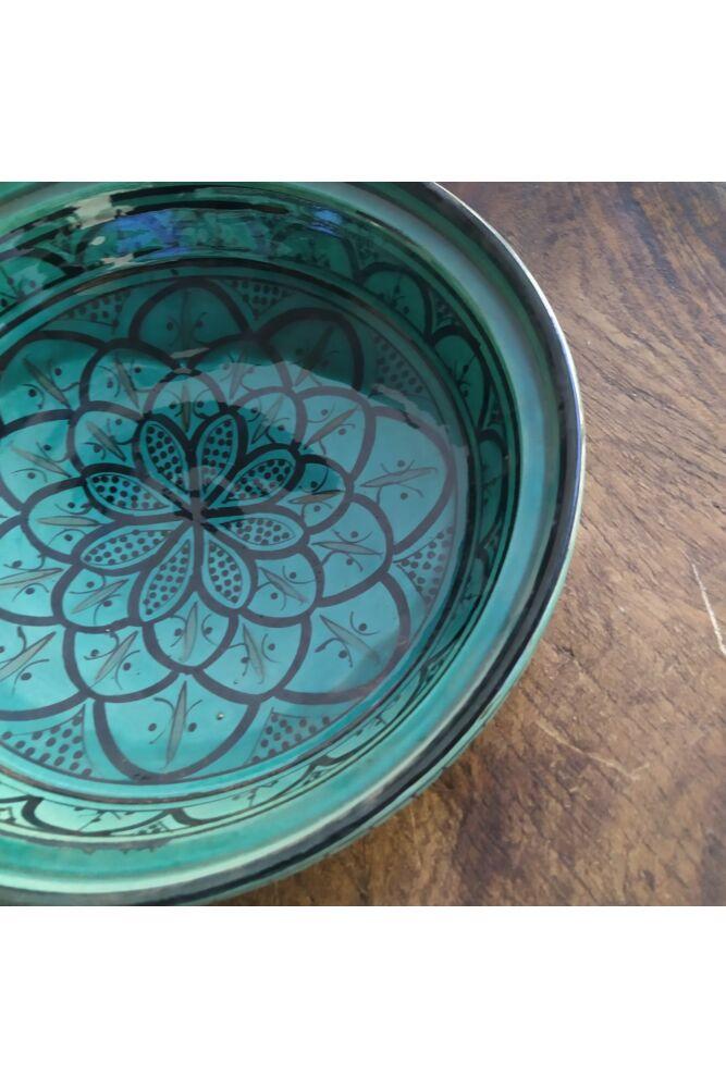 Tagine tálaló edény mélyzöld színben ( kis hibával!)