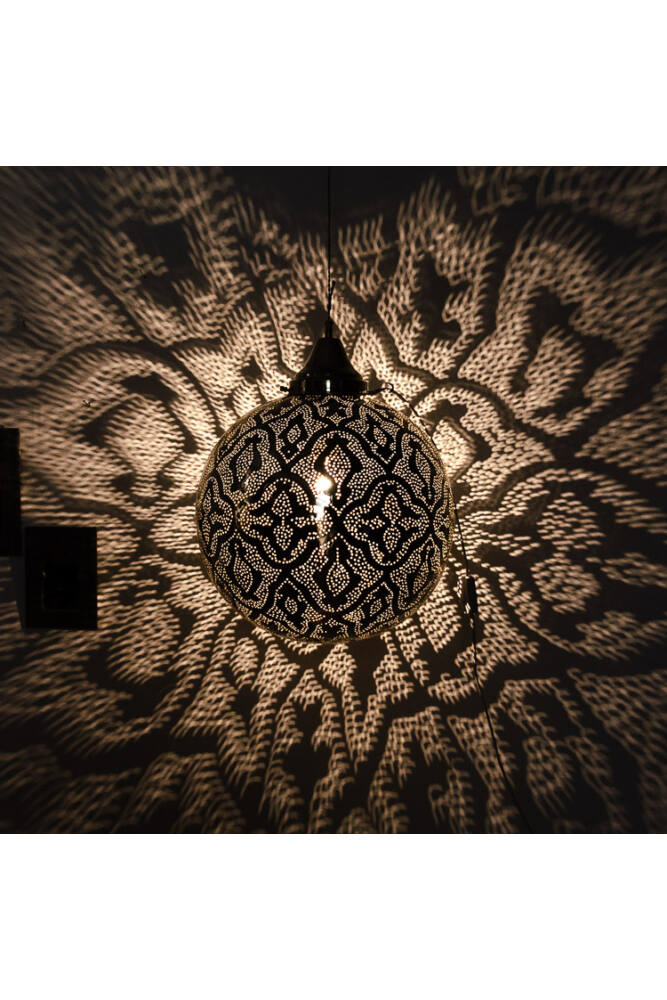 Fez rézgömb lámpa